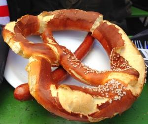 Um pretzel gigantesco!