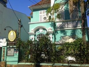 Fachada do restaurante- casarão do início do século XX