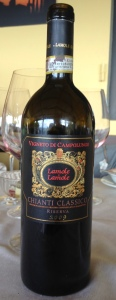 O vinho: chianti clássico de 2009!