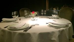 Focos de luz nas mesas!