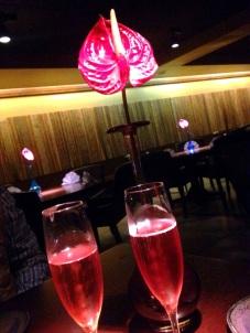 Espumante brut rosé para acompanhar o jantar!