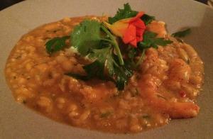 Prato 2 (pedido da Beta): Arroz de camarão, feijão branco e requeijão. Hmmm