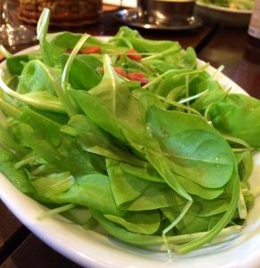 Salada de radicci com bacon